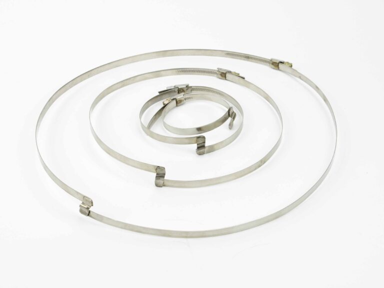 Stainless steel hose clamps with bridge W2